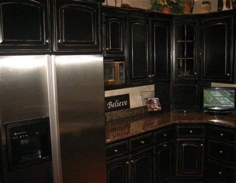 black kitchen cabinet doors distressed black kitchen cabinet doors kitchen design ideas 4686