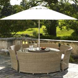 bramblecrest 4 bench rattan garden furniture set