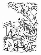 Lemonade Coloring Stand Pages Drawing Getdrawings Pink sketch template