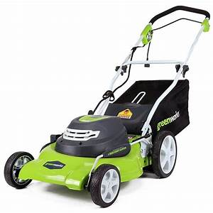 Greenworks 25022 20 U0026quot  12 Amp Corded Electric Lawn Mower