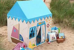 Grande Cabane Enfant : grande maison de plage en tissu cabanes enfants et maisonnettes en tissu pinterest cabane ~ Melissatoandfro.com Idées de Décoration