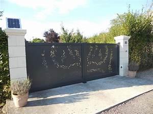 Installateur De Portail Motorisé : pose d 39 un portail aluminium titane charuel ~ Farleysfitness.com Idées de Décoration