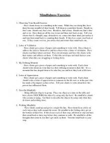 DBT Mindfulness Activities for Groups Worksheet