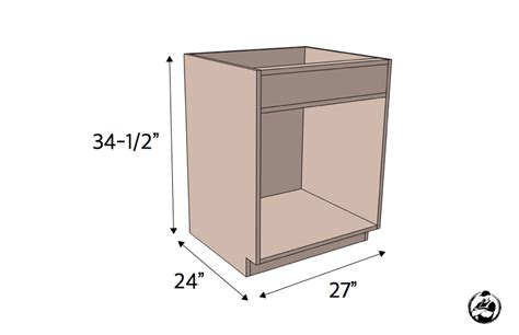 frameless kitchen cabinet plans 27in sink base cabinet carcass frameless 187 rogue engineer 3514