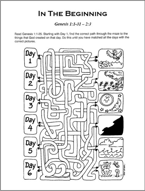 sunday school worksheets on creation free sunday school curriculum some of these printables