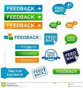 Feedback icon set stock illustration Image of answering