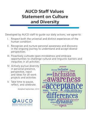 Values Statement Template by Aucd Mission Vision And Values