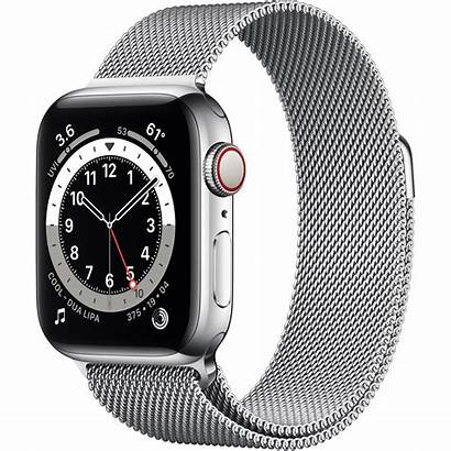 Apple Cellular Gps 40mm Steel Milanese Stainless