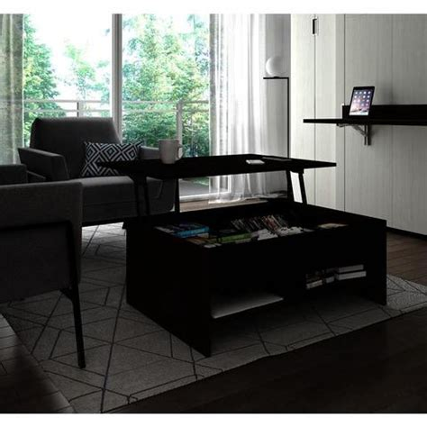 The arts and crafts style home will be complemented by a mission style coffee table. Bestar Small Space 37 Inch Lift-Top Storage Coffee Table in Dark Chocolate & Black - Beyond Stores