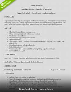 how to write a perfect truck driver resume with examples With cdl driver resume samples