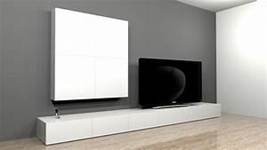 Banc Tv Suspendu : projet de cr ation de mobilier contemporain banc tv range cd mural ~ Teatrodelosmanantiales.com Idées de Décoration