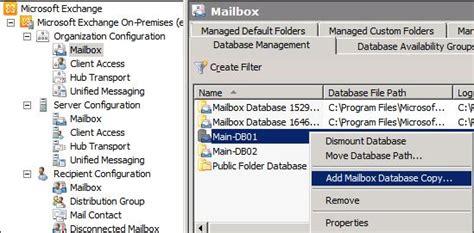 exchange 2010 dag resume database copy