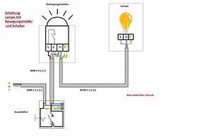 Wie Funktioniert Ein Bewegungsmelder : lampe mit bewegungsmelder anschlie en clevere elektroinstallation und haustechnik ~ Frokenaadalensverden.com Haus und Dekorationen