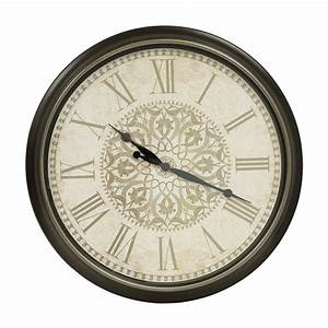 shop decor therapy analog round indoor wall clock at lowescom With kitchen cabinets lowes with clocks wall art