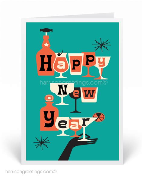 what years are considered mid century happy new year greeting cards harrison greetings business greeting cards cartoon humor
