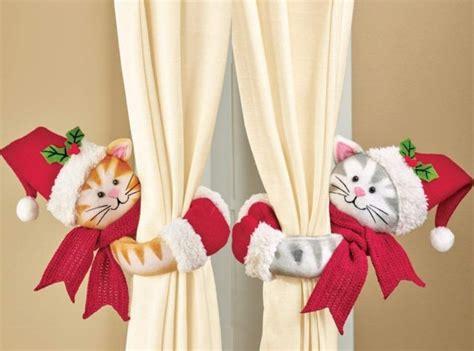 Cute Christmas Cats Curtain Tie Backs Set
