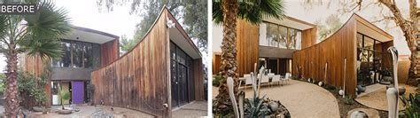 Before And After Images Of A Redwood Clad 1980s Home In