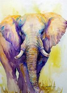 Original Art Painting Elephant Animal Paintings Wall by ...