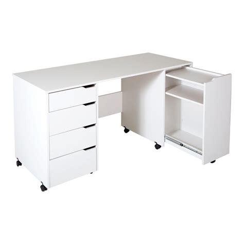 craft desk with storage south shore crea contemporary laminated particleboard