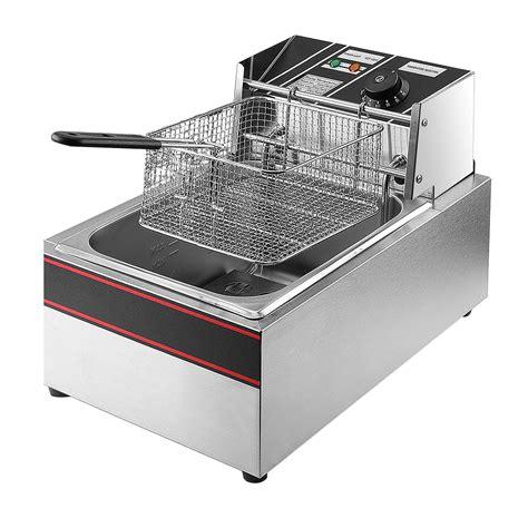 fryer deep built kitchen outdoor commercial electric countertop amazon restaurant basket flexzion fry