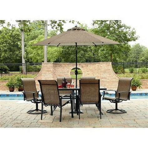 Patio Set 7 pc outdoor patio dining set table chairs seat lawn pool
