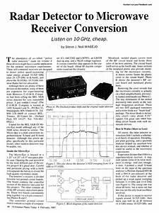 Radar Detector To Microwave Receiver Conversion