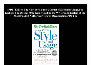 Ny Times Style Guide Pdf Michael Mcgarrity  Recyclemefree Org