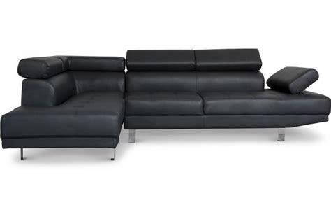 canape avec tetiere canapé d 39 angle droit noir avec têtière relevable tilpa