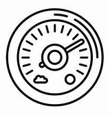 Barometer Outline Humidity Sensor Icon Vectors sketch template