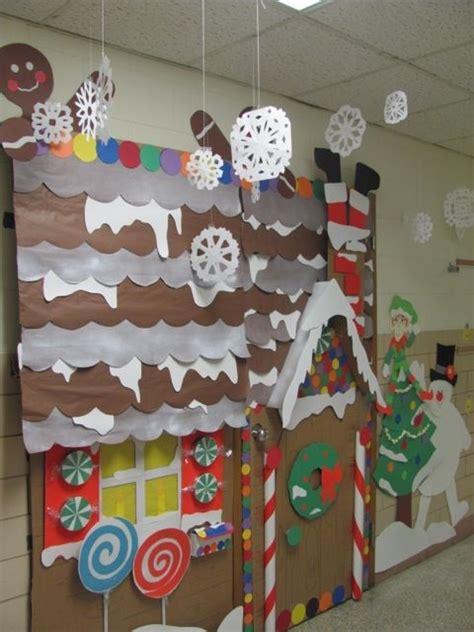 gingerbread house winter wonderland classroom door