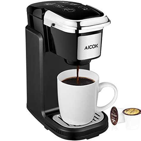 Lacking some of the features and abilities of the ninja places this single cup coffee maker without pods a step behind its rival. Aicok Single Serve Coffee Maker, Coffee Machine with Removable Cover for Most Single Cup Pods ...