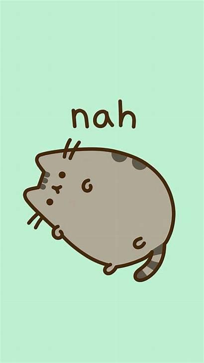 Pusheen Cat Stickers Kawaii Background Iphone Circle