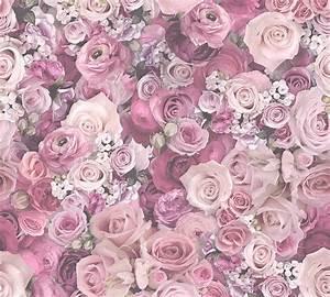 tapete rosen rose blume glanz lila as creation 32722 4 With balkon teppich mit rosen tapeten günstig