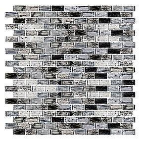 blue twilight brick glass mosaic 12 x 12 in glass tile bricks mosaics and glass