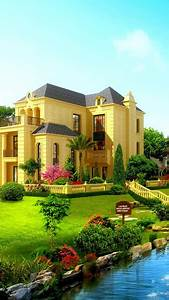 Beautiful house wallpaper