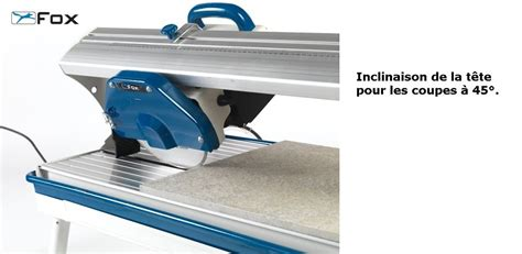 coupe carrelage a eau fox f36 420 coupe carreaux outillage fr