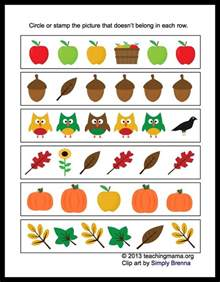 Free Printable Fall Preschool Math Worksheets