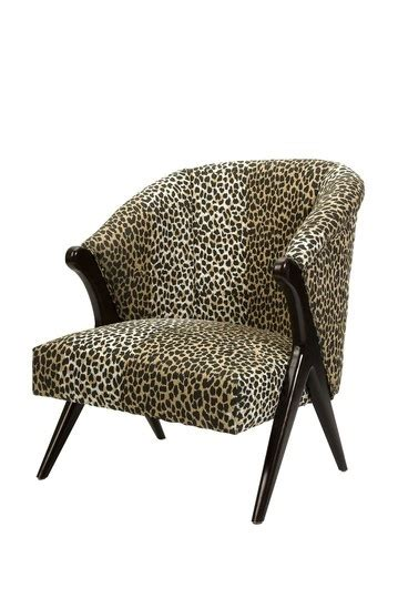 leopard print accent chair hammary 090 428 treasures