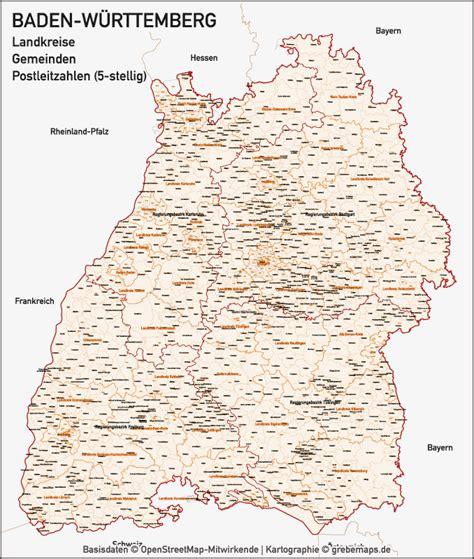 Plz Karte Baden Württemberg