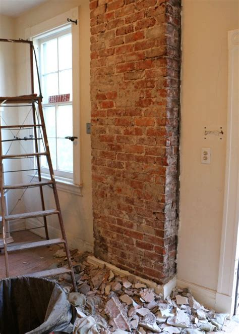 exposed brick wall how to remove plaster from a brick chimney exposed brick plaster walls and bricks