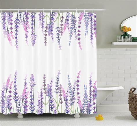 Purple Flower Shower Curtain by Shower Curtain Purple Flower Lavender Plants Aromatic