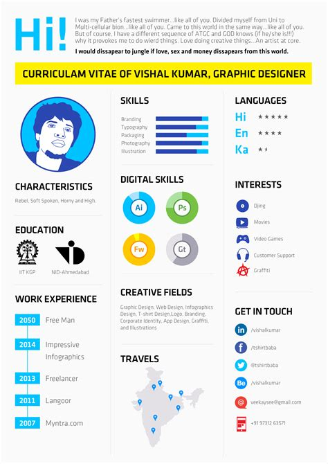 infographic style resume resume ideas