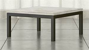 parsons square dark steel coffee table with travertine top With square parsons coffee table