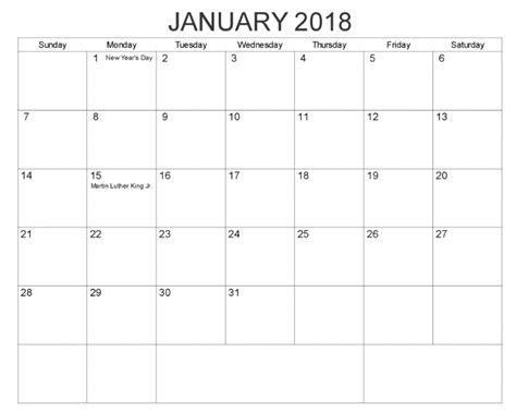 calendar template january 2018 january 2018 calendar excel calendar template letter format printable holidays usa uk pdf