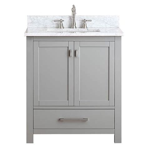 30 Inch White Bathroom Vanity Without Top by Modero Chilled Gray 30 Inch Vanity Combo With White
