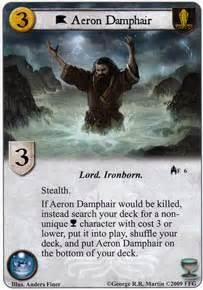aeron damphair kings   sea game  thrones lcg