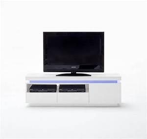 Tv Lowboard Led : tv lowboard wei hochglanz lackiert moderner tv schrank mit led beleuchtung breite 150 cm ~ Indierocktalk.com Haus und Dekorationen