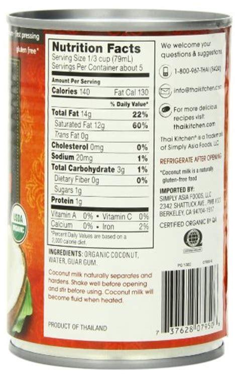 thai kitchen organic coconut milk ingredients thai kitchen organic coconut milk 13 66 ounce cans pack 9458