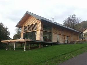 maison ossature bois sur pilotis a viuz jolly With construction maison sur pilotis