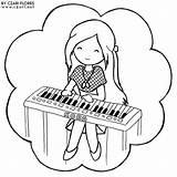 Piano Coloring Pages Playing Keyboard Printable Getdrawings Keys Sheets Tocando Para Getcolorings Colorir Popular Partir Daycoloring Guardado sketch template